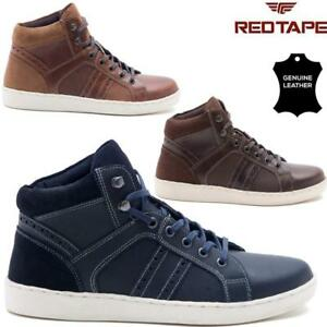 Mens-Red-Tape-Leather-Flat-Lace-Up-Hi-Tops-Ankle-Boots-Casual-Sneakers-Trainers