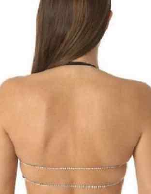 La/'licia Black Backless Diamond Halter Neck For Low Back Dresses Bra 38B EU 85B