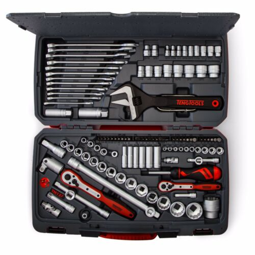 Teng JUNE SALE 127 Pce Tool Kit Professional 1//4  3//8 1//2 Dr Spanners Ratchets