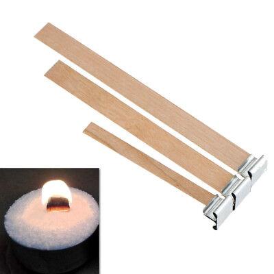 10Pcs//set Holz Docht Kerzendocht Öllampe Laterne Fackeln mit Dochthalter Kit