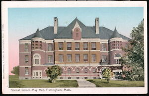 FRAMINGHAM-MA-Normal-School-State-University-May-Hall-Copper-Window-Vtg-Postcard