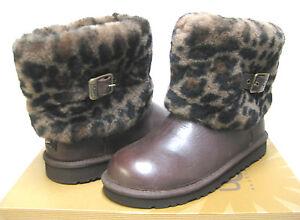 92802e6d587 Details about UGG ELLEE ANIMAL PRINT BOOTS BLACK YOUTH 4/ WOMEN 6/ UK 4.5  /EU 37 /JP 23