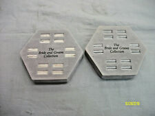2 Vintage 12 Slot Ring Display Tray Case