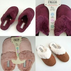 Primark Ladies Memory Foam Slippers Various Colours Uk Size 3 8 Ebay