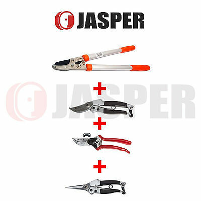 """Jasper 8 1//2/"""" Solid Aluminum Forged Bypass Pruner Professional Classic D..."""