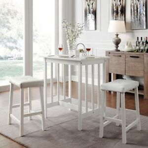 3 piece dinette kitchen table chairs stools dining set pub counter image is loading 3 piece dinette kitchen table chairs stools dining watchthetrailerfo