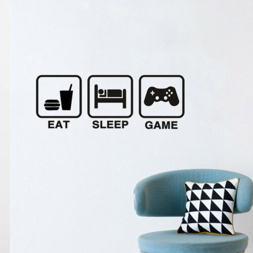 Game Wall Stickers DIY Glass Door Decal PVC Home Decor 58*22cm Creative