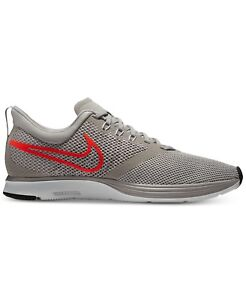 e0dc350548 Details about Men's Nike Zoom Strike Running Shoes Grey / Crimson Red Sz 12  AJ0189 006