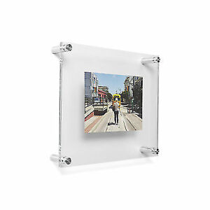 Wexel Art 10x12 Double Panel Floating Acrylic Frame For 4x6 To 5x7