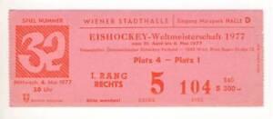 1977-IIHF-WORLD-Ice-Hockey-CHAMPIONSHIPS-ticket-CANADA-vs-SWEDEN