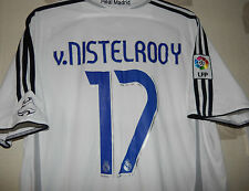 Adidas Real Madrid home 2006-2007 V nistelrooy 17 size on tag uk Large app 46""