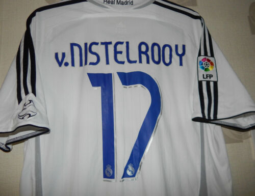 Adidas Real Madrid home 20062007 V nistelrooy 17 size on tag uk Large app 46""