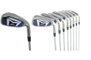 AGXGOLF-MENS-SENIOR-FLEX-AGXGOLF-SAME-LENGTH-GRAPHITE-IRON-SET-4-9-IRONS-WEDGE