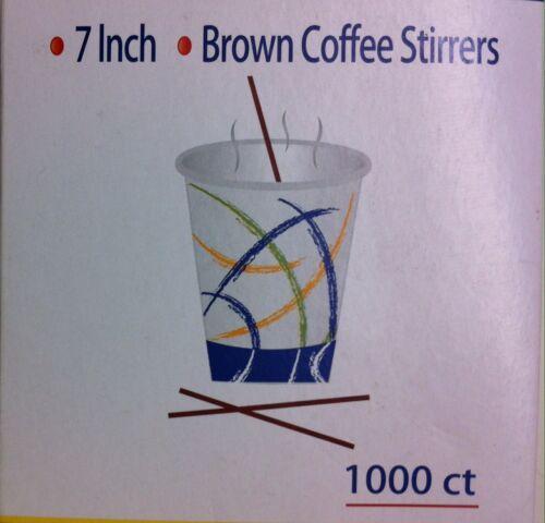 "COFFEE STIRRERS BROWN PLASTIC COCKTAIL STIRRERS MIXER DRINK STRAWS 7/"""
