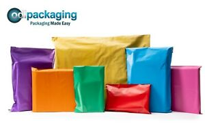 Coloured-Polythene-Plastic-Mailing-Postal-Packaging-Bags-Strong-Self-Seal-Strip