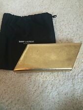 **SAINT LAURENT** Diagonal Minaudiere Snake Print Clutch Bag Handbag