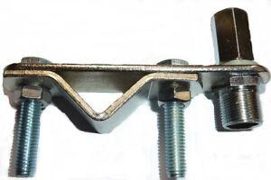 Heavy-Duty-STEEL-Mirror-Bar-Roof-Bar-Mount-amp-3-8-Antenna-Aerial-Stud-CB