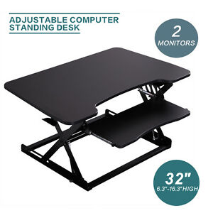 Desktop Tabletop Standing Desk Adjustable Height Sit to Stand
