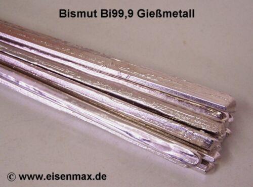 1 kg Bismut Bi 99,9/% Wismut Zinn Woodsche Metall Bismuthe Bleiersatz Gießen lead
