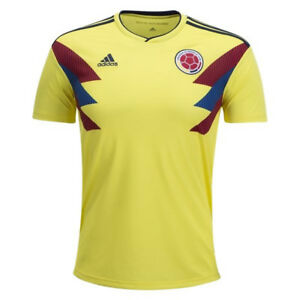 adidas-Men-039-s-Colombia-18-19-Home-Jersey-Bold-Yellow-Colligate-Navy-CW1526