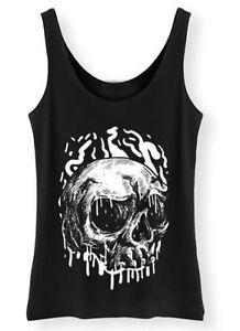 Dripping-Skull-Tank-Top-Womens-Ladies-Rock-Punk-Goth-Metal-Grunge-Vest