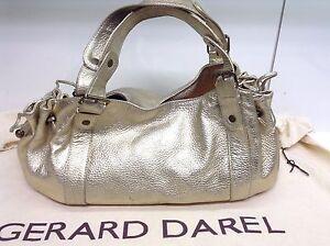 TTBE-Superbe-Sac-Gerard-Darel-24h-En-Cuir-Dore-Or-Glitter