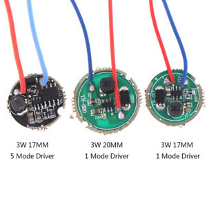 1Pc-3W-LED-driver-17mm-20mm-DC3-7V-1-Mode-5-Mode-LED-Flashlight-Driver-I2