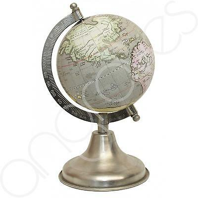 Light Green Traditional Ornamental Spinning World Globe on Arc Stand Home