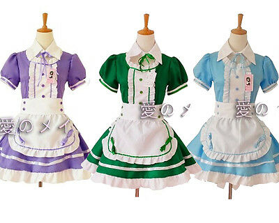 2015 Cosplay Costume Ruffle sexy servant Maid Outfits Party Dresses Set apron