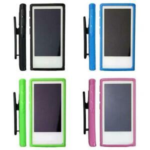 Soft-Rubber-Gel-Case-Cover-Belt-Clip-Holder-for-iPod-Nano-7-7th-Generation-Best
