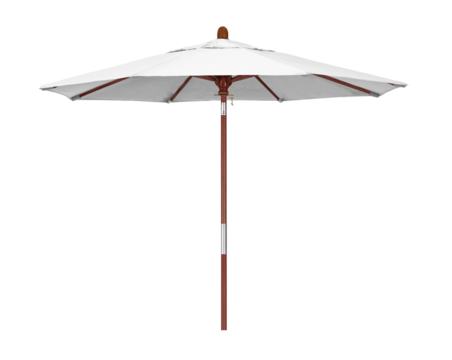 6 Ft 8 Rib Wood Market Patio Umbrella