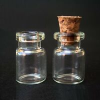 Clear Glass Bottle Vial Cork Wishing Charm Pendant Oil Borosilicate 0.5ml 121806