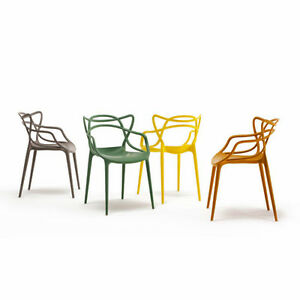 kartell masters chair philippe starck contemporary dining chair assorted colours ebay. Black Bedroom Furniture Sets. Home Design Ideas