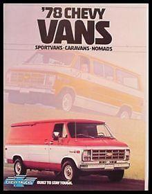 Sport Van Nomad 78 1978 Chevy Chevrolet Van Brochure