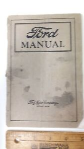 1922-FORD-Original-Owner-039-s-Manual-Good-Condition-US