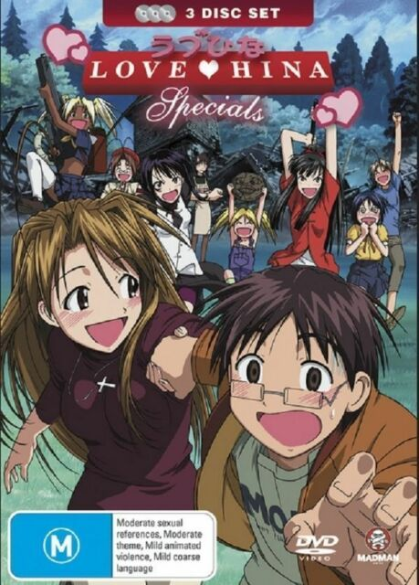 Love Hina Specials Collection (DVD, 2007, 3-Disc Set) Brand New & Sealed Region4