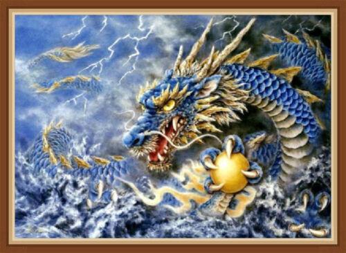 UK Dragon DIY Full Drill 5D Diamond Painting Embroidery Cross Stitch Decor QZ
