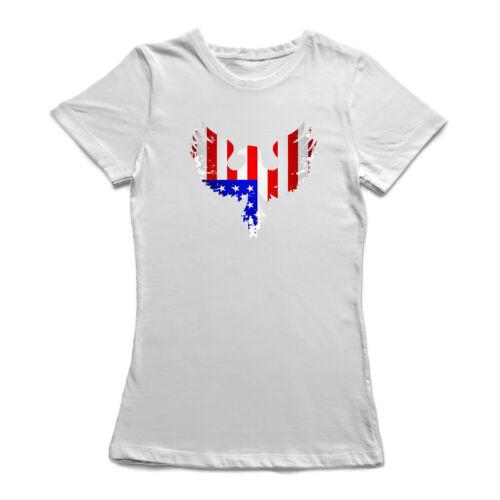 USA Eagle Flag Design Women/'s T-shirt