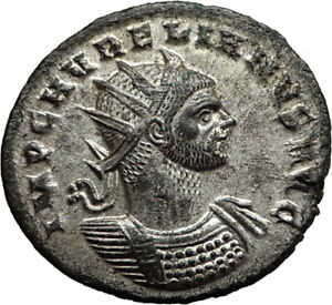 AURELIAN-Genuine-274AD-Authentic-Ancient-Original-Roman-Coin-SOL-SUN-i65435