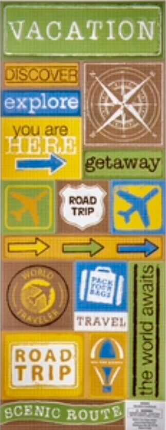 PAPER HOUSE OREGON TRAVEL VACATION CARDSTOCK SCRAPBOOK STICKERS