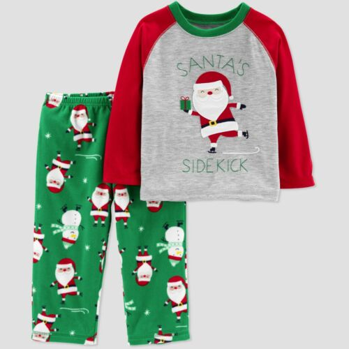 NWT Baby//Toddler Boys/' Santa/'s Sidekick 2pc Pajama Set Just One You by Carter/'s