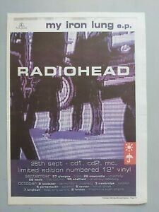 RADIOHEAD-MY-IRON-LUNG-ORIGINAL-MAGAZINE-PRESS-ADVERT-SIZE-11-034-X-15-3-12