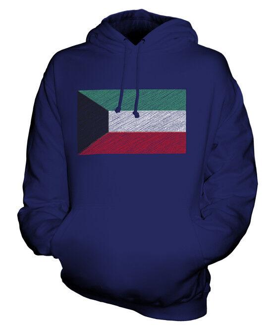 KUWAIT KRITZELTE FLAGGE UNISEX KAPUZENPULLOVER HOODIE PULLI HOODY HERREN DAMEN