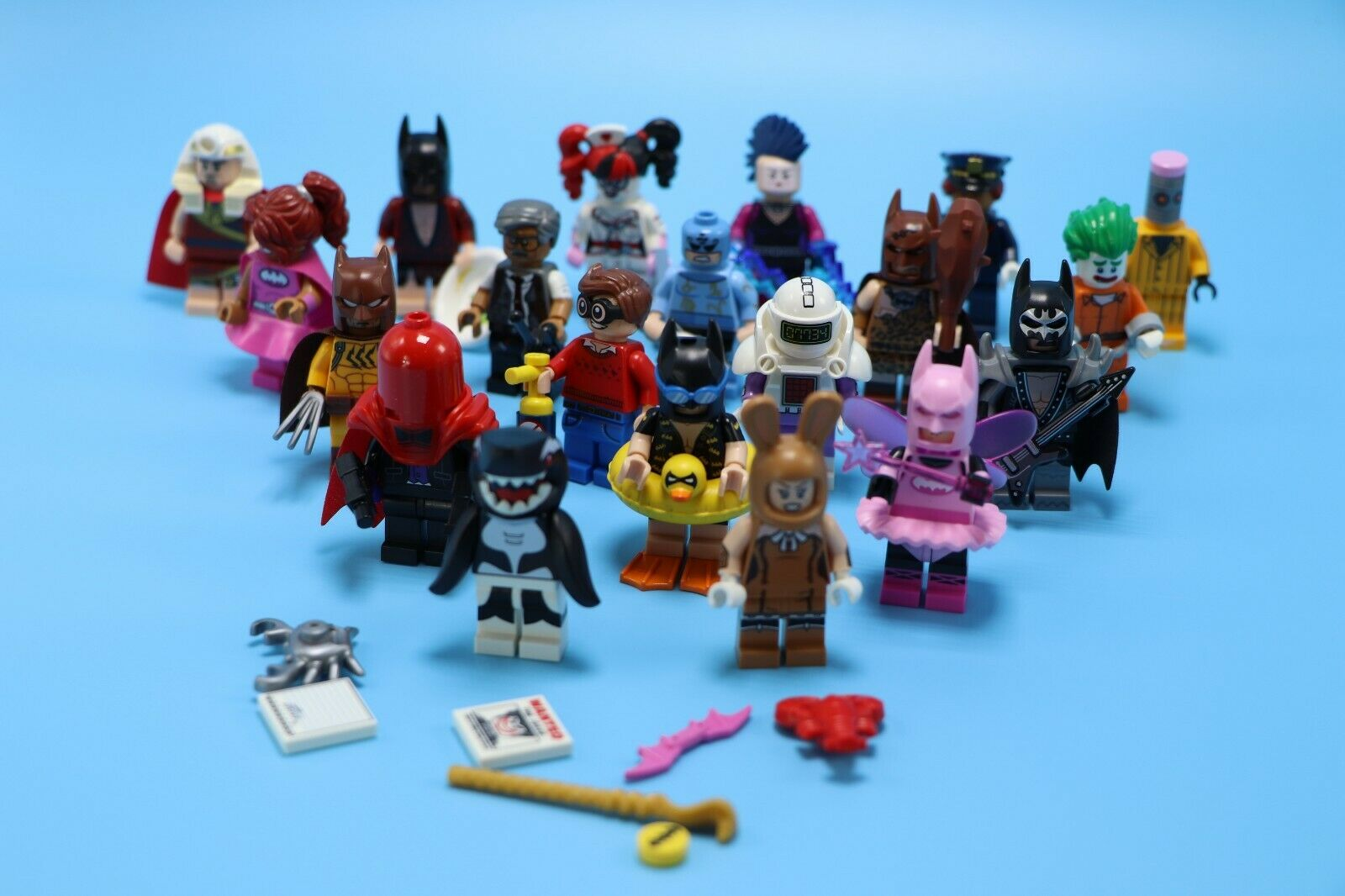 Lego 20 Minifigures - Batman Movie Series 1 from Blind Bags - Complete Collectn