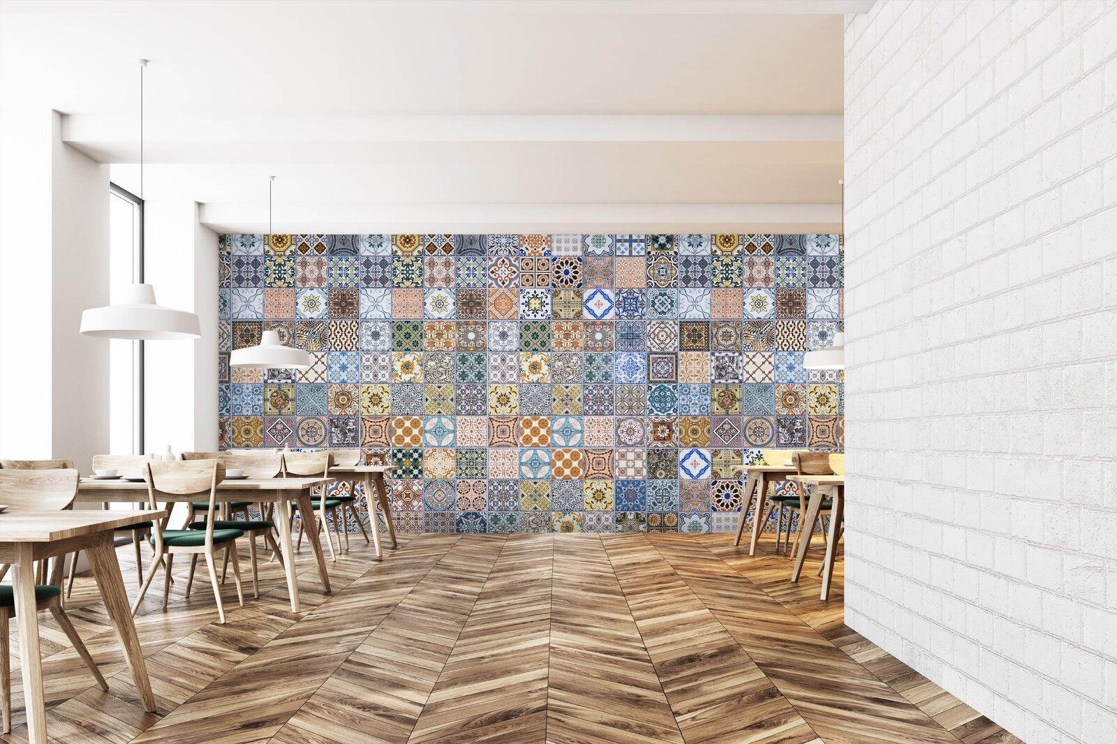 3D Flower Pattern 7117 Texture Tiles Marble Wall Paper Decal Wallpaper Mural AJ
