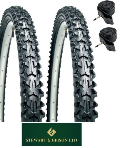 """MOUNTAIN BIKE//CYCLE TYRES AND INNER TUBES 24/"""" INCH PAIR OF"""