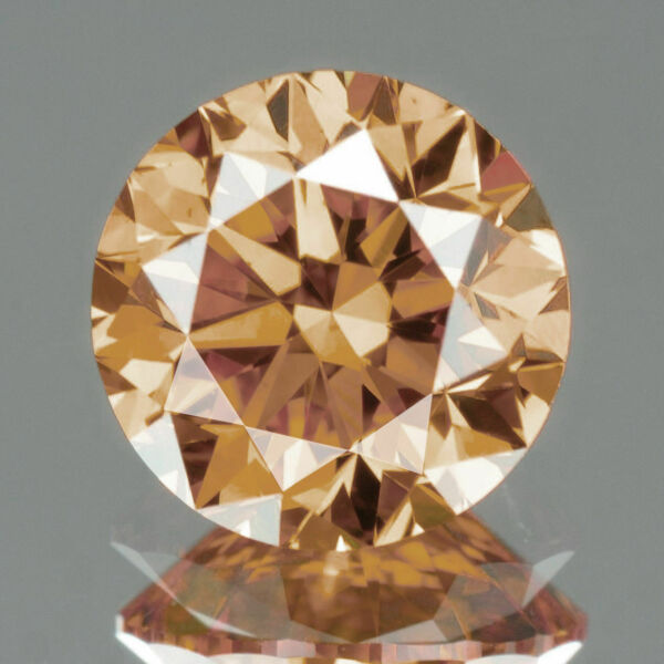 4652 If - Diamant/brillant/synthese 1,50 Ct. Champagner 6,00 Mm Aaa+ Top !