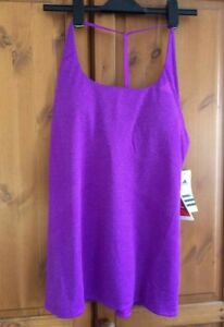ADIDAS-womens-running-yoga-workout-support-bra-vest-top-in-purple-BNWT-size-M
