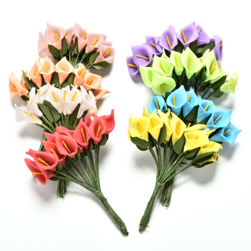 24//2 bunches Foam Calla Flower Bouquet DIY Scrapbooking Decorative Wreath FO