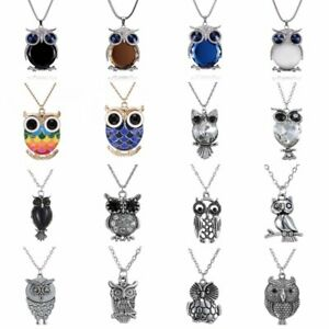 Retro-Owl-Glass-Crystal-Pendant-Necklace-Chain-Women-Sweater-Chain-Jewelry-HOT